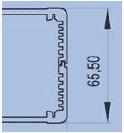 Корпус из алюминиевого профиля ПА-2. Размер 100х135х65.5 мм (LxWxH)